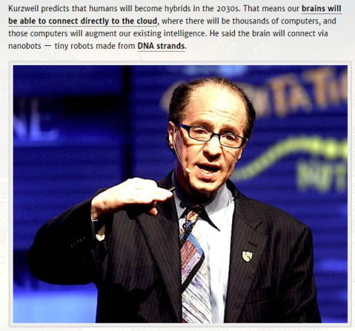 Humans will be hybrids - Kurzweil