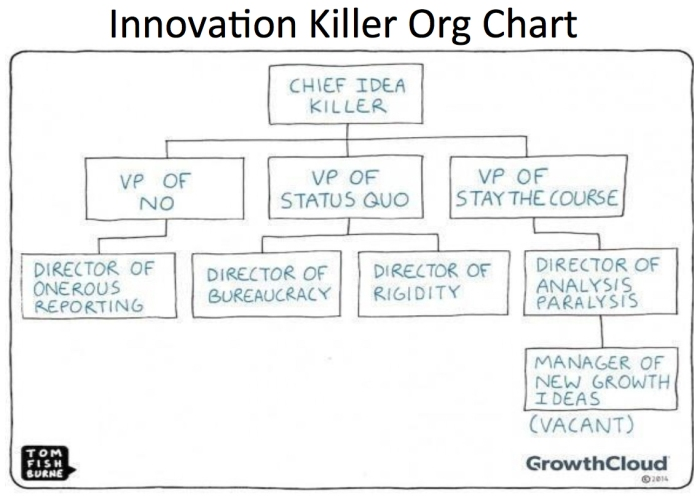 Innovation Killer Organization Chart Reimagining The Future